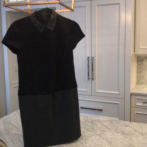 ann taylor leather dress